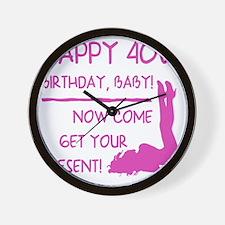 Sexy 40th Birthday Wall Clock