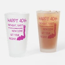Sexy 40th Birthday Drinking Glass