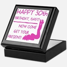 Sexy 30th Birthday Keepsake Box
