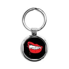 Vampire Lips Round Keychain