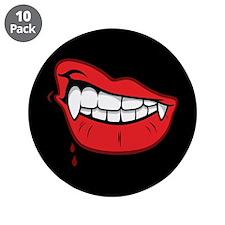 "Vampire Lips 3.5"" Button (10 pack)"