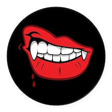 Vampire Lips Round Car Magnet