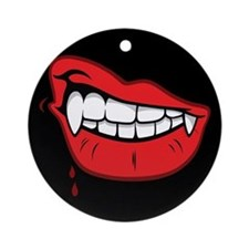 Vampire Lips Ornament (Round)