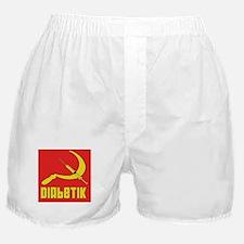 Diabetik w/red background Boxer Shorts