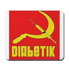 Diabetik w/red background Mousepad