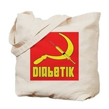 Diabetik w/red background Tote Bag