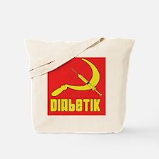 Diabetik w/red background Tote Bag