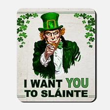 I Want You to Sláinte Mousepad