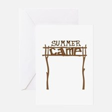 Summer Camp Sign Greeting Cards