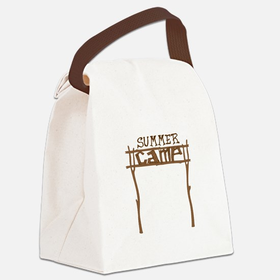 Summer Camp Sign Canvas Lunch Bag