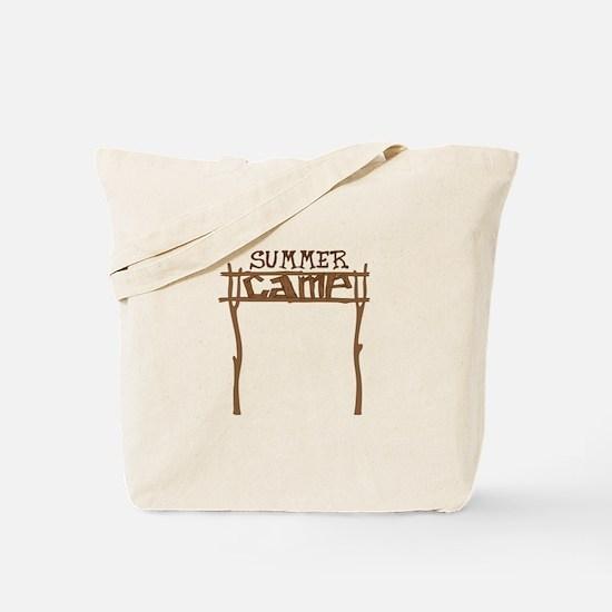 Summer Camp Sign Tote Bag