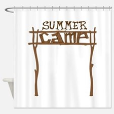 Summer Camp Sign Shower Curtain