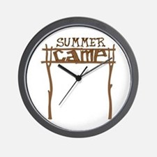Summer Camp Sign Wall Clock