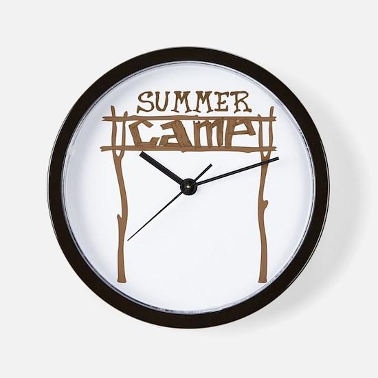 Summer Camp Sign Wall Clock