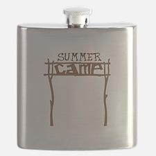 Summer Camp Sign Flask