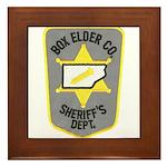 Box Elder Sheriff Framed Tile