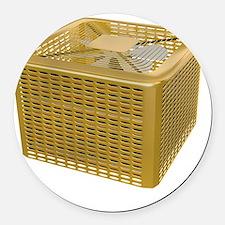 Golden AC Round Car Magnet