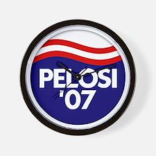 Pelosi '07 Wall Clock