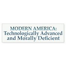 Modern America Bumper Bumper Sticker