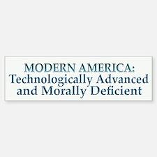 Modern America Bumper Car Car Sticker
