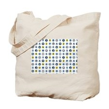 Blue Letters and Numbers Boy Tote Bag