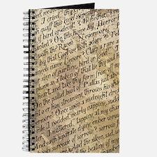 Poe Raven Text Pattern Journal