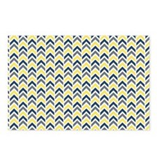Blue, Yellow and White Ar Postcards (Package of 8)