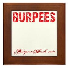 THE BURPEE - BLACK Framed Tile
