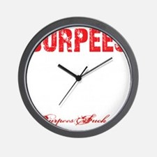 THE BURPEE - BLACK Wall Clock