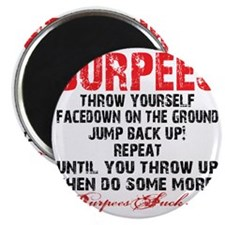 THE BURPEE - WHITE Magnet