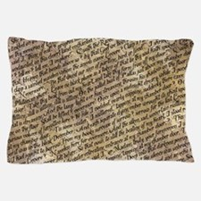 Poe Raven Text Pattern Pillow Case
