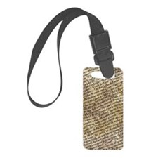 Poe Raven Text Pattern Luggage Tag