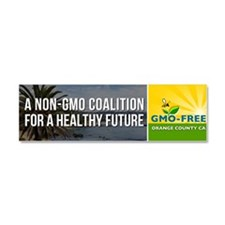 GMO-Free OC bumper sticker Car Magnet 10 x 3