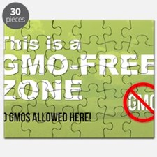 This is a GMO-Free Zone yard sign Puzzle