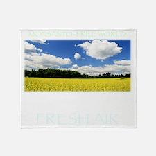 Monsanto-Free World - A Breath of Fr Throw Blanket