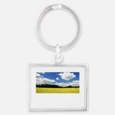 Monsanto-Free World - A Breath  Landscape Keychain