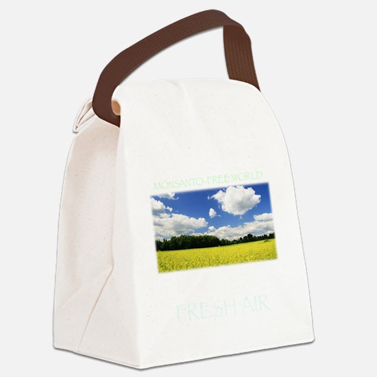 Monsanto-Free World - A Breath of Canvas Lunch Bag