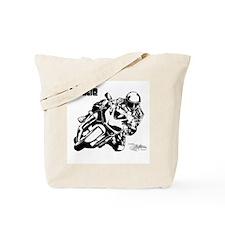 Track Motorcycle Tote Bag
