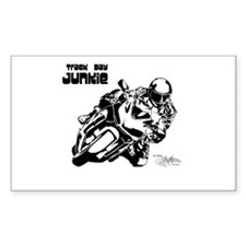 Track Motorcycle Rectangle Decal