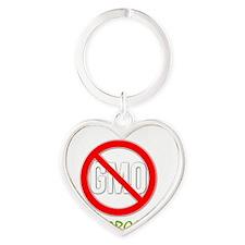 Ban GMOs - Live Organic Heart Keychain