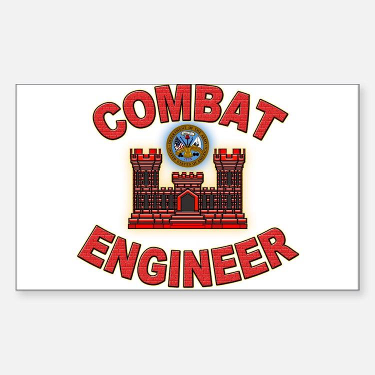 US Army Combat Engineer Brick Decal