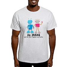 20 Year Anniversary Robot Couple T-Shirt