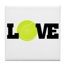 Tennis Love Tile Coaster