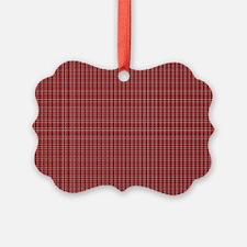 Red Tartan Pattern Ornament