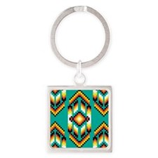Native American Design Turquoise Keychains