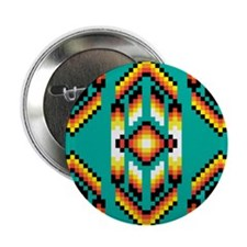 "Native American Design Turquoise 2.25"" Button"