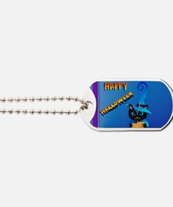 Yard Sign-Blue Witch Kitty-Happy Hallowee Dog Tags