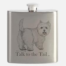 Westie Attitude Flask