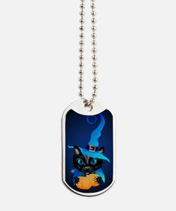 Blue Witch Kitty Dog Tags
