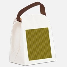 Gold and Mustard Tartan Pattern Canvas Lunch Bag